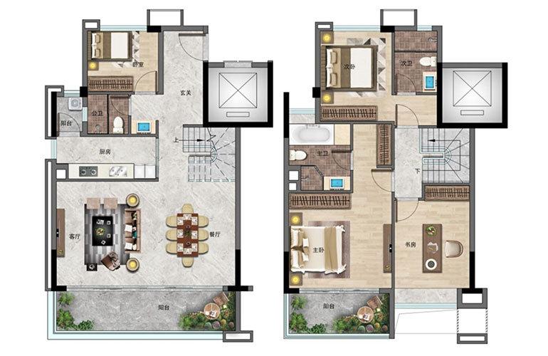 景业白鹭洲 4房2厅3卫 建面172㎡