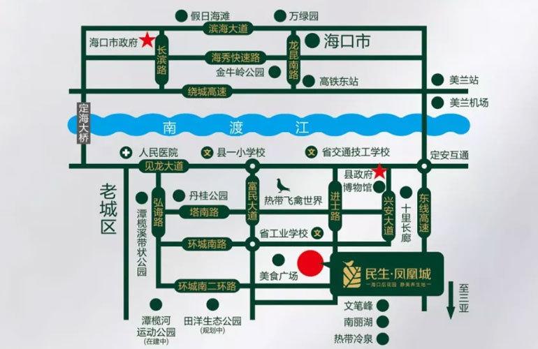 民生凤凰城区位图