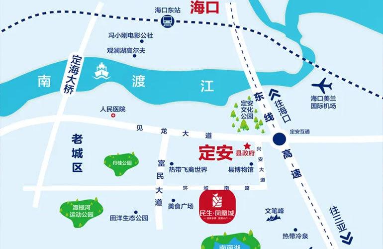 民生凤凰城 区位图