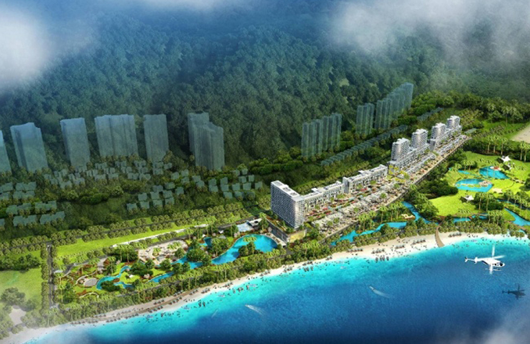 龙栖湾新半岛 鸟瞰图