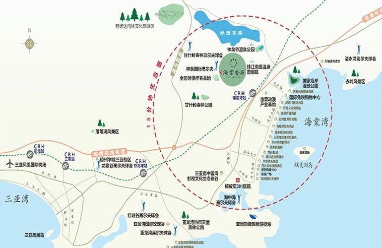 海棠香居 区位图