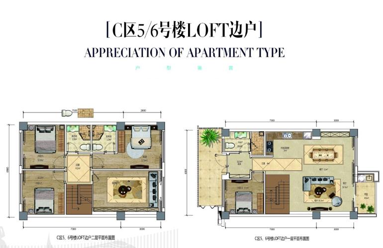 龙栖湾新半岛 C区5/6号楼LOFT边户