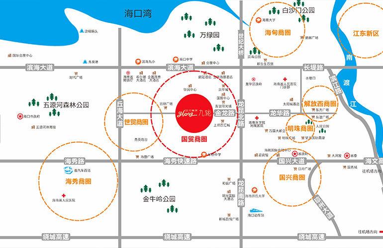逸龙广场区位图