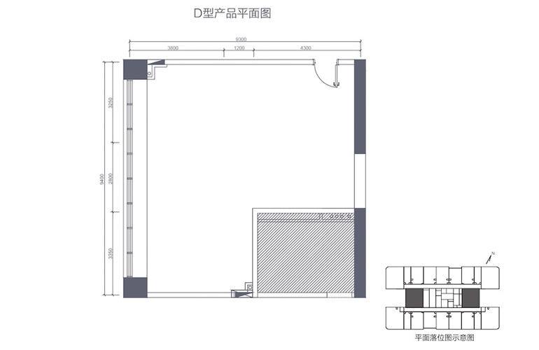 碧桂园滨江海岸 D型产品平面图