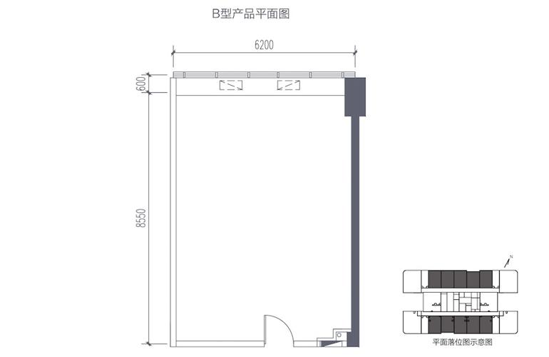 碧桂园滨江海岸 B型产品平面图