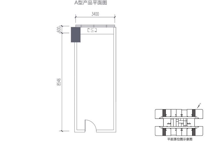 碧桂园滨江海岸 A型产品平面图
