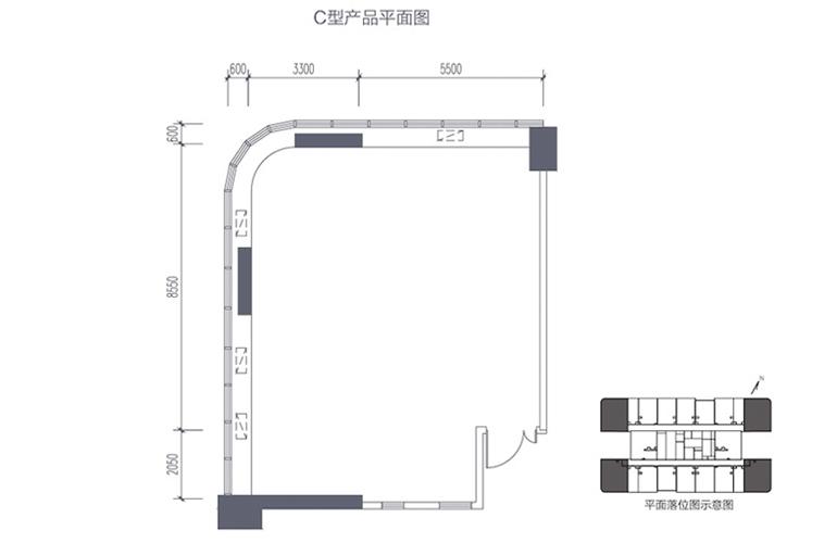 碧桂园滨江海岸 C型产品平面图