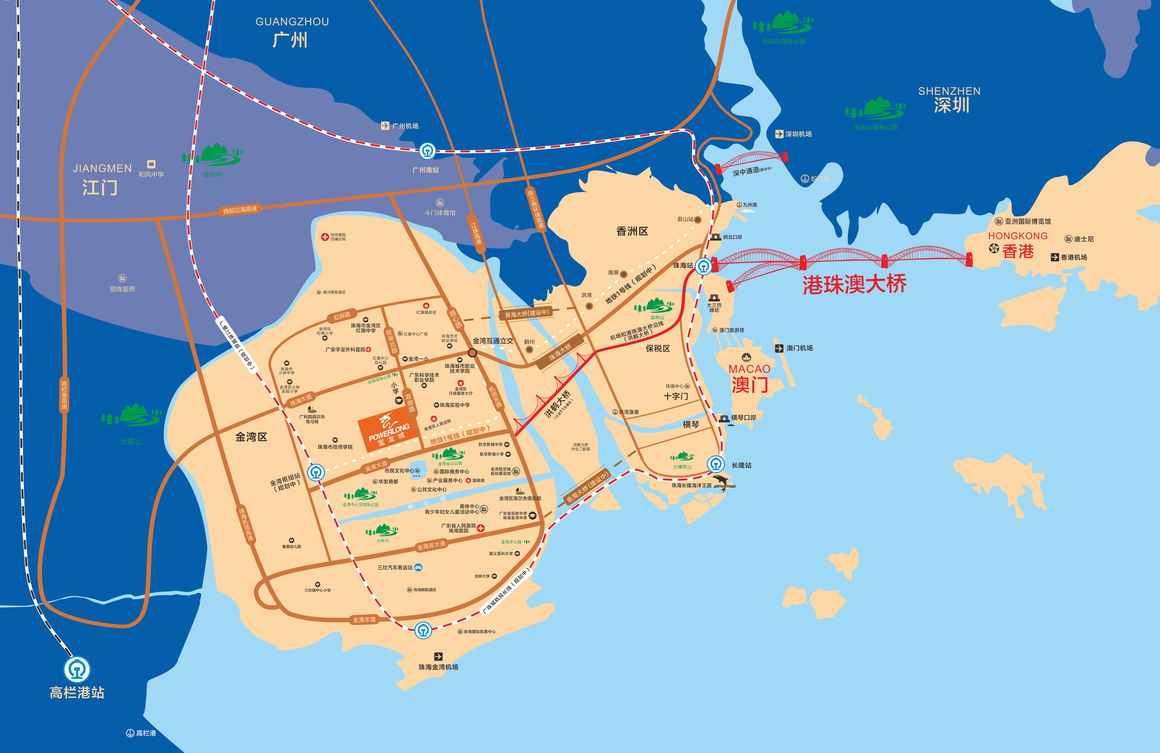 金湾宝龙城区位图