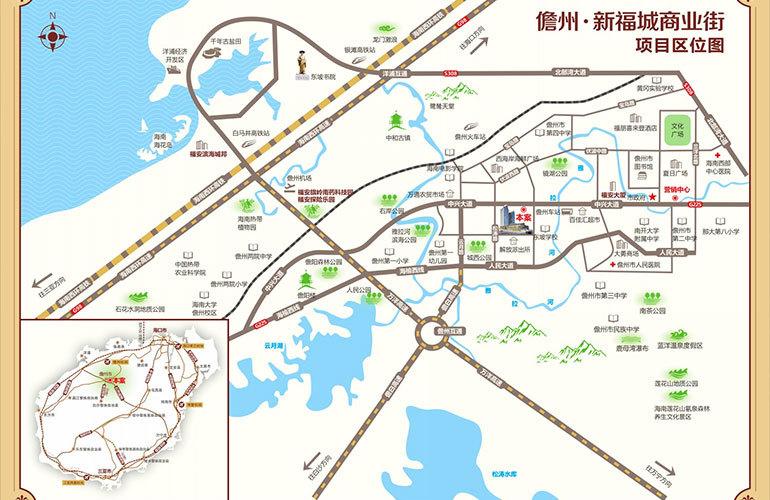 福安新福城商业街区位图