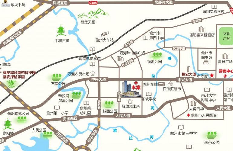 福安新福城商业街 区位图