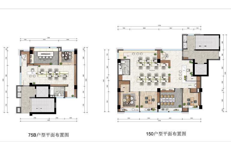 绿地空港GIC 75户型 建筑面积75㎡