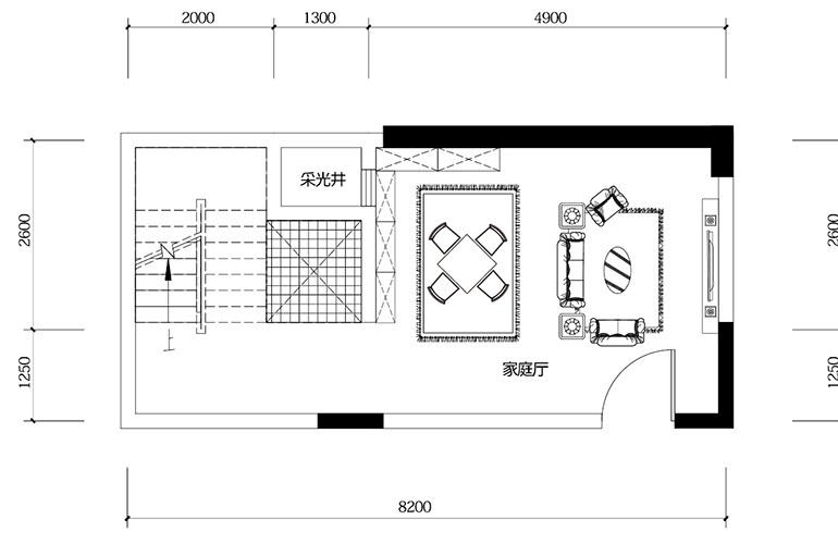鸿基云玺台 B3户型负二层 别墅户型 建筑面积240-285㎡