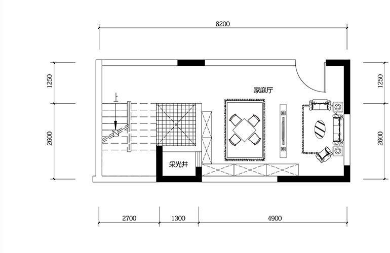 鸿基云玺台 B2户型负二层 别墅户型 建筑面积270-275㎡