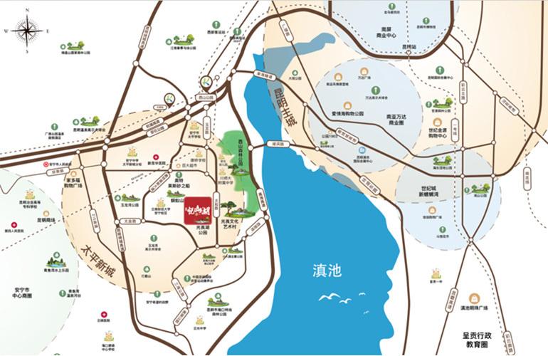 浩创悦山湖区位图