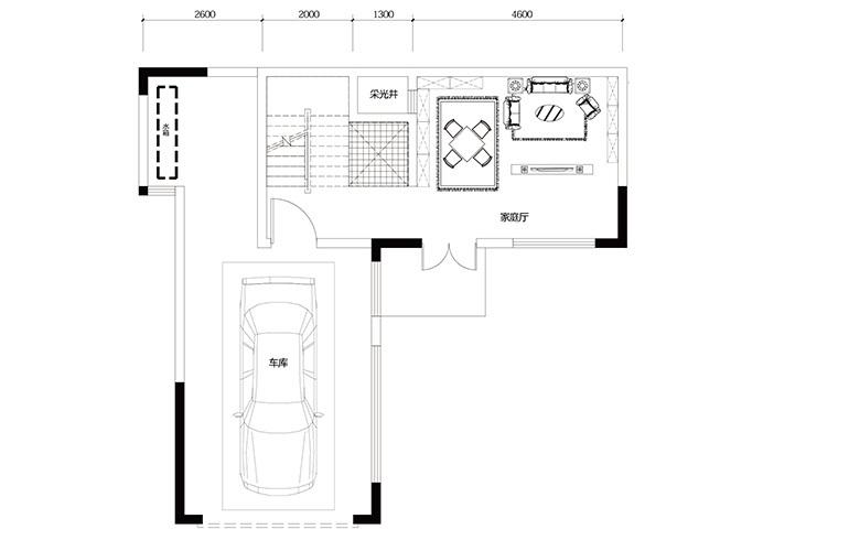 鸿基云玺台 C8户型一层 别墅户型 建筑面积225㎡