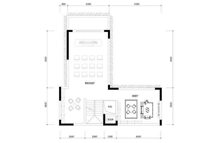 鸿基云玺台 C5户型负一层 别墅户型 建筑面积219㎡
