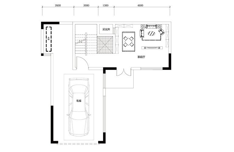 鸿基云玺台 C6户型一层 别墅户型 建筑面积221-258㎡