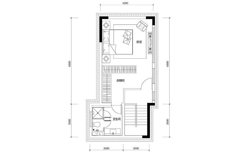 鸿基云玺台 D2户型三层 别墅户型 建筑面积203㎡