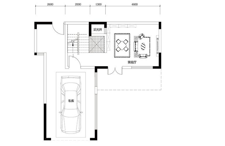 鸿基云玺台 C1户型一层 别墅户型 建筑面积225-230㎡
