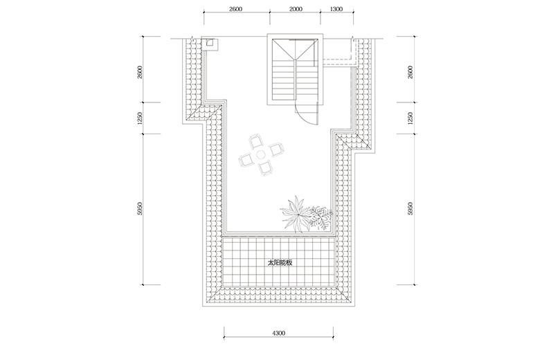 鸿基云玺台 C1户型屋顶露台 别墅户型 建筑面积225-230㎡