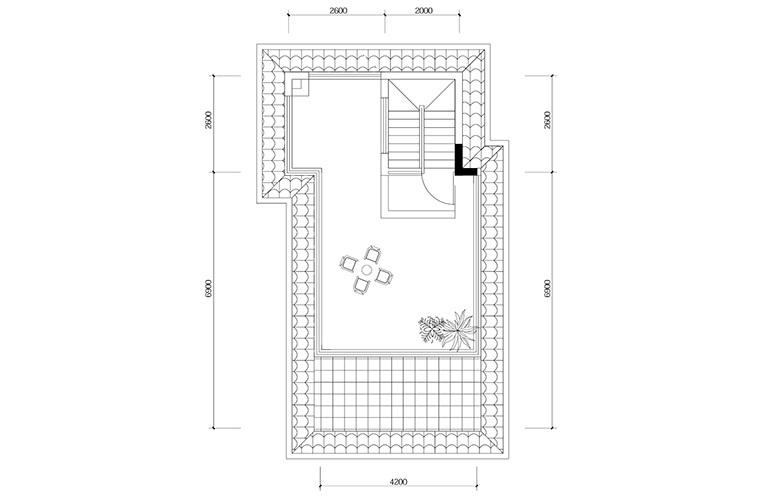 鸿基云玺台 D4户型顶层露台 别墅户型 建筑面积193㎡