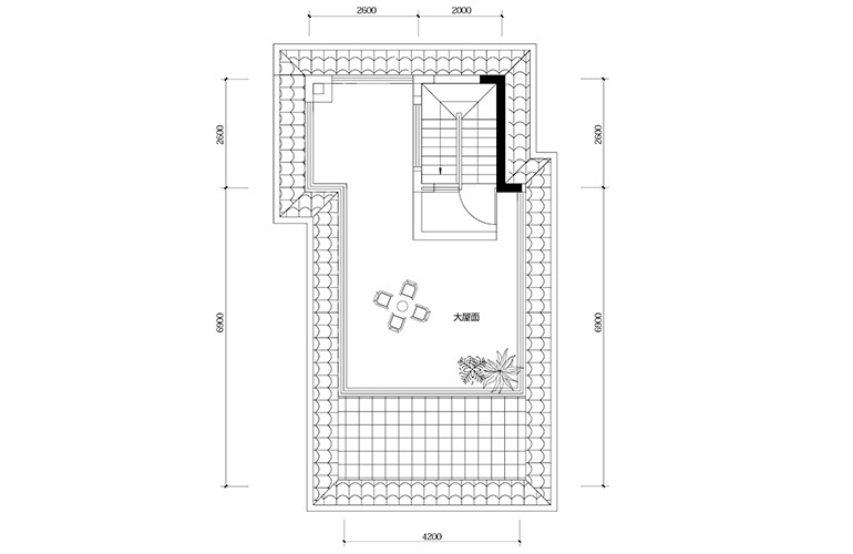鸿基云玺台 D3户型四层 别墅户型 建筑面积209㎡