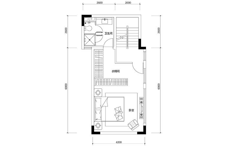 鸿基云玺台 D4户型四层 别墅户型 建筑面积193㎡
