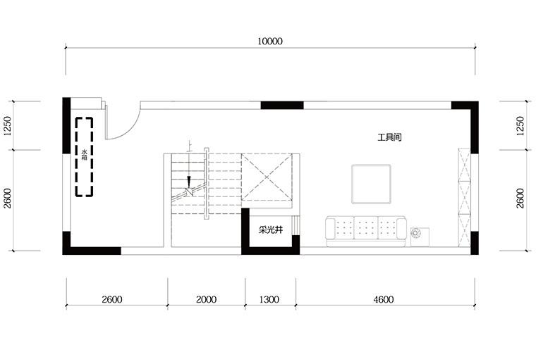 鸿基云玺台 C5户型负二层 别墅户型 建筑面积219㎡