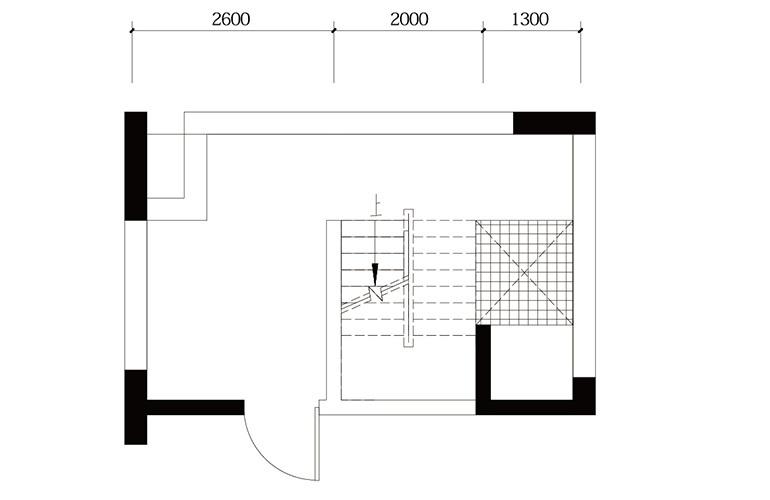 鸿基云玺台 C4户型负一层 别墅户型 建筑面积250-260㎡