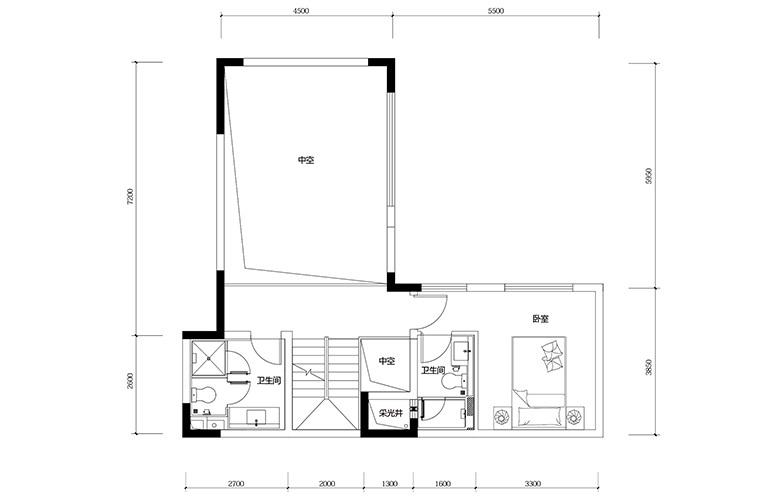鸿基云玺台 B6户型三层 别墅户型 建筑面积220-290㎡