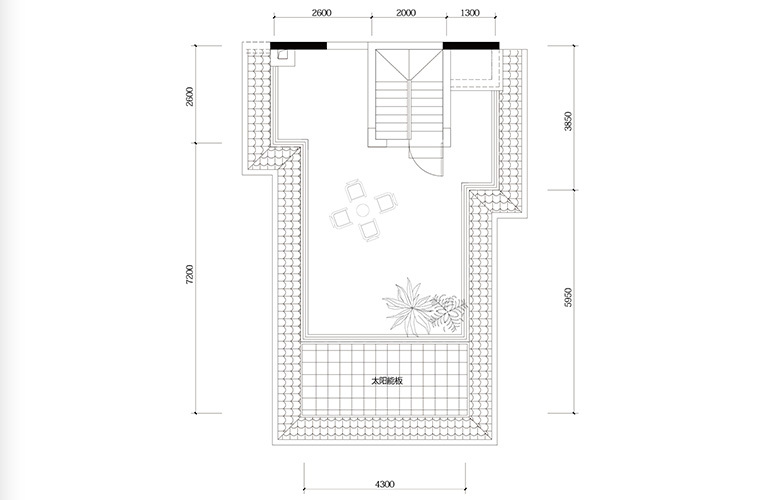 鸿基云玺台 C3户型四层 别墅户型 建筑面积220-260㎡
