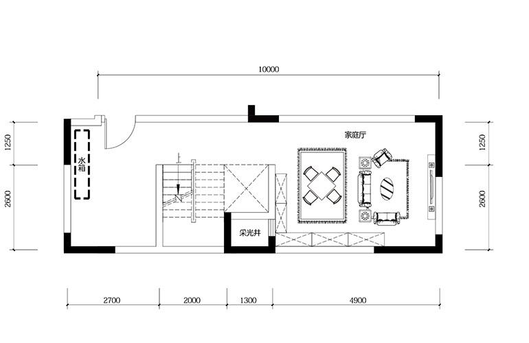 鸿基云玺台 B5户型负二层 别墅户型 建筑面积210-250㎡