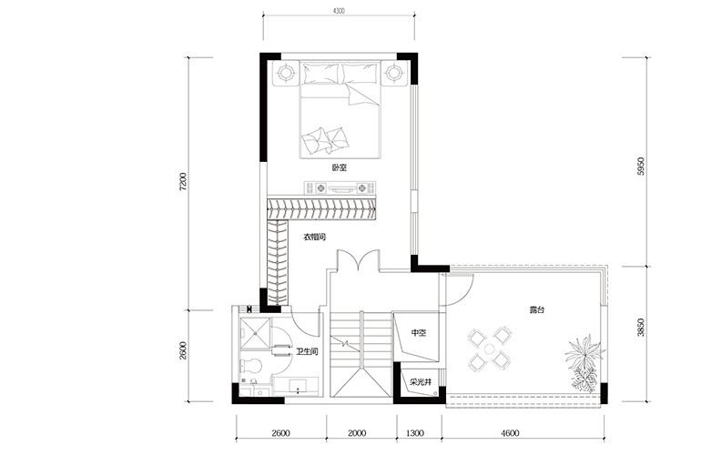 鸿基云玺台 C4户型四层 别墅户型 建筑面积250-260㎡