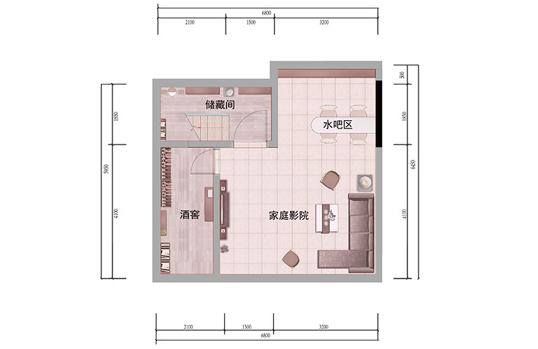 浩创悦山湖 别墅125㎡户型地下一层 4室3厅4卫1厨 建筑面积125㎡