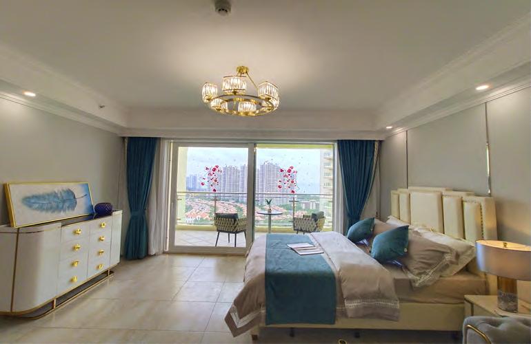 碧桂园东海岸 B5户型样板间客厅