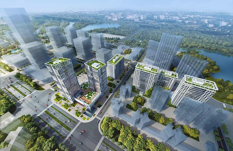 三亚新闻中心 鸟瞰图