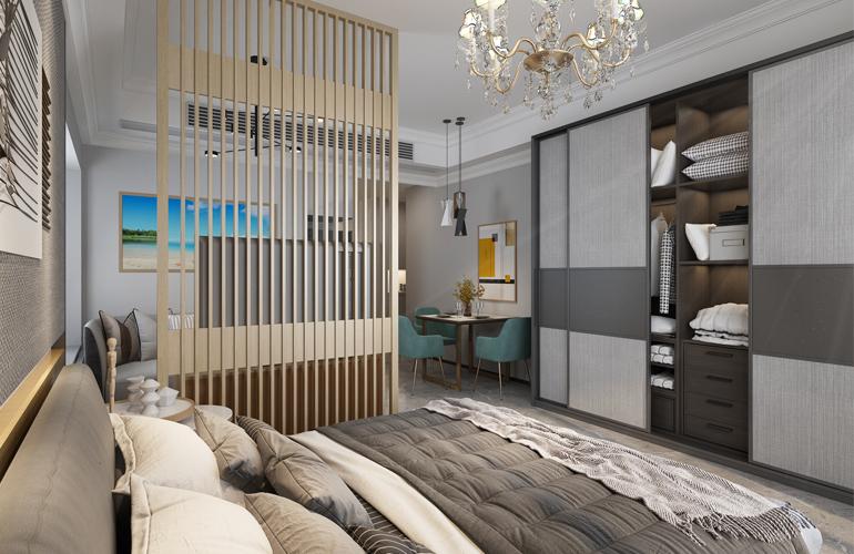 碧桂园东海岸 B1户型样板间卧室