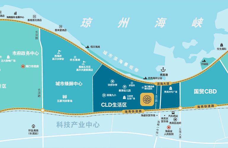 仁恒海棠公园区位图