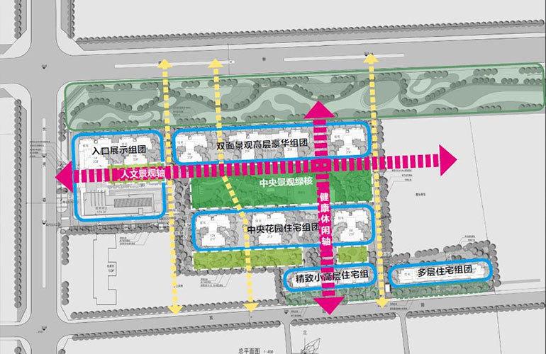 仁恒海棠公园 规划图