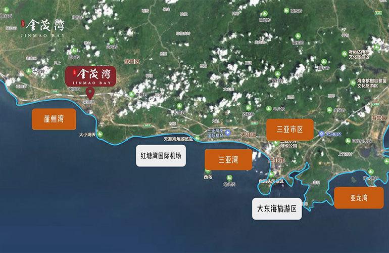 三亚金茂湾 区位图