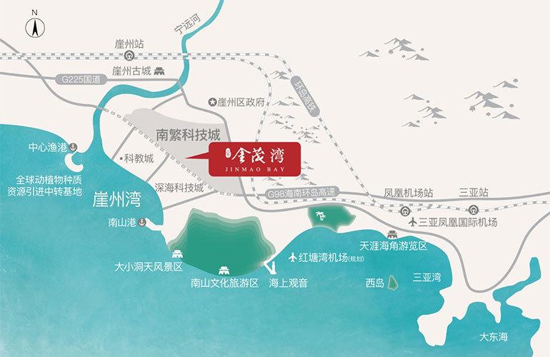 三亚金茂湾区位图