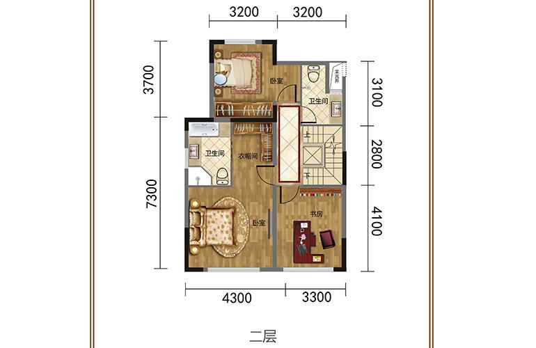 春城365 二层 联排别墅 建筑面积378㎡