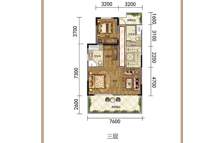 春城365 三层 联排别墅 建筑面积378㎡