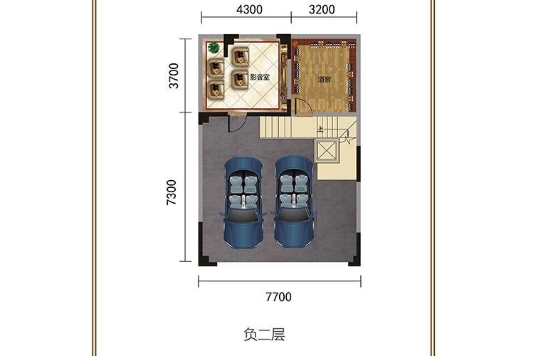 春城365 负二层 联排别墅 建筑面积378㎡