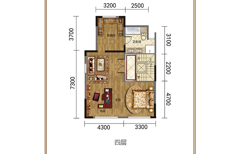 春城365 四层 联排别墅 建筑面积378㎡