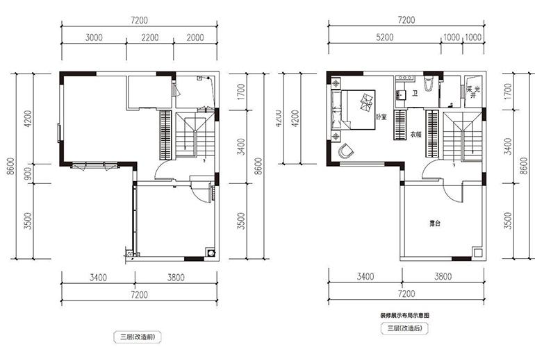 滇池府 117㎡合院 三层