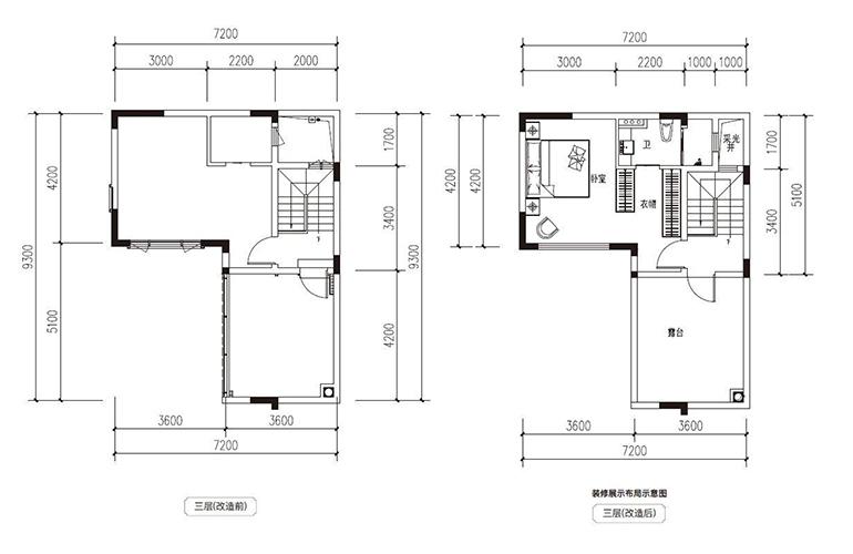 滇池府 118㎡合院 三层