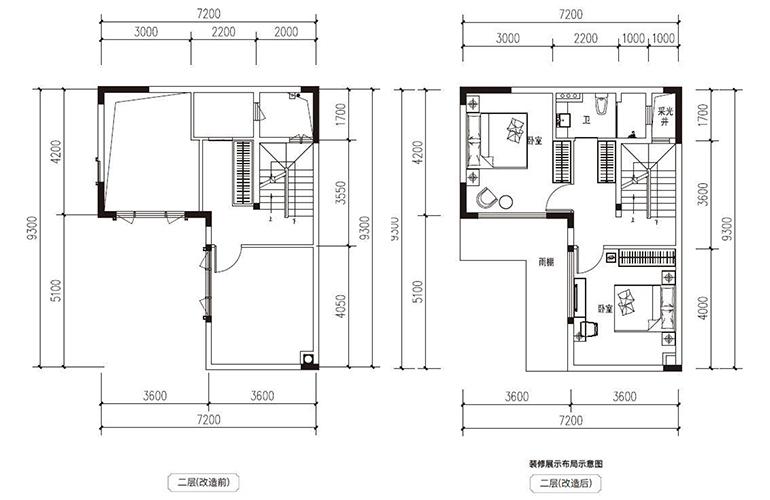 滇池府 118㎡合院 二层