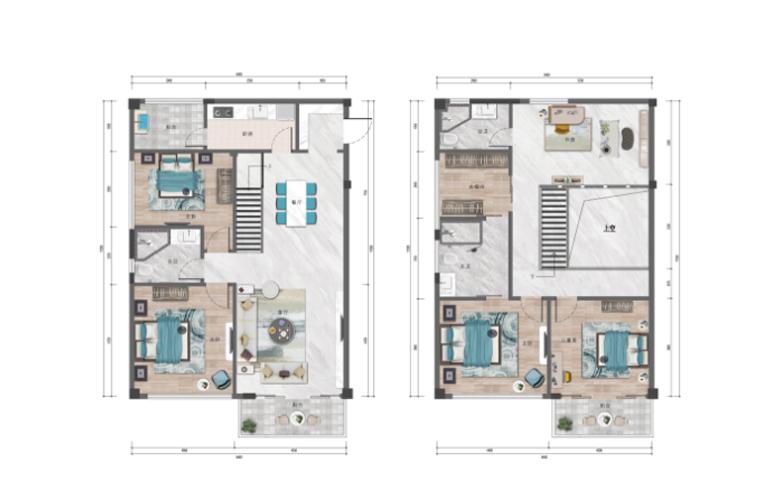 万润城 C户型 无房两厅三卫 建筑面积139.30㎡