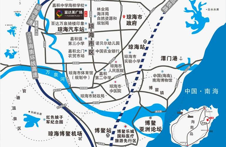 富达美广场区位图